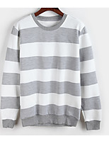 Men's Casual/Daily Simple Sweatshirt Solid Round Neck Micro-elastic Cotton Long Sleeve Fall