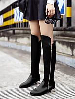 -Для женщин-Повседневный-Полиуретан-На низком каблуке-Удобная обувь-Ботинки