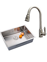 Contemporary Antique Pull-out/Pull-down Vessel Widespread Pullout Spray with  Ceramic Valve Single Handle One Hole for  Nickel Brushed Kitchen Faucet