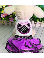 Dog Dress Dog Clothes Summer Princess Cute Fashion Casual/Daily Purple