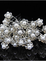 10 Pcs With Drilling U Hair Fork Hairpin Go Pearl Flower Set Auger Hair Hair Clasp Bride Headdress