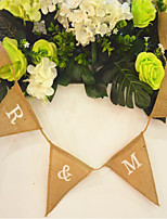 13*15cm Flags 2m Mr & Mrs Wedding Photo Props Vintage Banner Jute Burlap Bunting Rustic Garland Party Hanging Decoration
