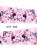 10pcs/set Hot Fashion Romantic Flower Nail Beauty Sticker Romantic Nail Water Transfer Decals Sweet Decals Nail Art Design STZ-360