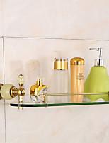 Bathroom Accessory Set / Ti-PVDBrass Glass