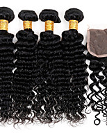 One Pack Solution Brazilian Texture Deep Wave 12 Months 5 Pieces hair weaves