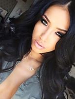 Изюминка T1B / 27 фронта шнурка человеческих волос париков свободной волна 130% плотность перуанских девственных волос бесклеевого кружево