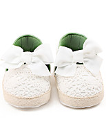 Kids' Loafers & Slip-Ons Spring Fall Flower Girl Shoes First Walkers Fabric Wedding Party & Evening Dress Casual Flat Heel Bowknot Walking