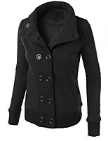 Men's Casual/Daily Sweatshirt Solid Shirt Collar Inelastic Cotton Linen Long Sleeve Spring