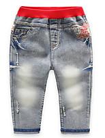 Jeans Garçon Décontracté / Quotidien Couleur Pleine Coton Printemps Automne