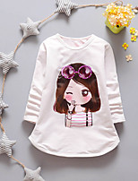 Hot Sale High Quality New Arrival Casual/Daily Print TeeCotton Summer Spring Short Sleeve Regular