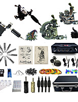 Complete Tattoo Kit 4 Machines G4A2R3Z12Z10P Liner & Shader Dual LED Digital Power Supply
