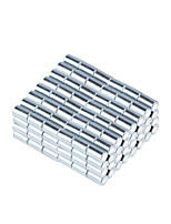 3.2*5mm Strong Small Size Columniform NdFeB Magnets - Silver (200 PCS)