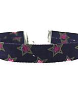 Жен. Ожерелья-бархатки Воротничок В форме звезды Ткань Уникальный дизайн Мода Винтаж Euramerican Темно-синий Бижутерия ДляСвадьба Для