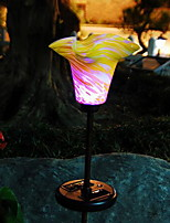 Luzes conduzidas coloridas do jardim do lírio