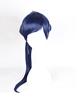 Cosplay Wigs Overwatch Cosplay Ink Blue Ponytails Anime Cosplay Wigs 60 CM Heat Resistant Fiber
