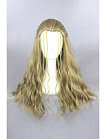 Meduim long curly movie thor odinson 24inch blond cosplay wigcs-261b