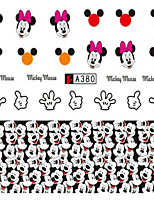 10pcs/set Nail Art Sticker Lovely Cartoon Mickey Decals Nail Water Transfer Decals Manicure Beauty Decoration A380