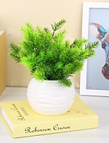 1 Branch Plastic PU Plants Tabletop Flower Artificial Flowers 32