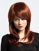 MAYSU Fashionable Linen Long  Hair Partial Fringe Hair  Synthetic Wig Enchanting   Woman hair
