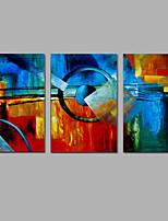 Ручная роспись Абстракция Вертикальная,Modern 3 панели Холст Hang-роспись маслом For Украшение дома