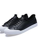 Белый Черный-Для мужчин-Повседневный-ПолиуретанУдобная обувь-Кеды