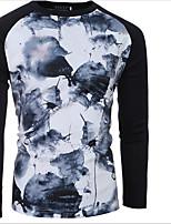 Sweatshirt Homme Décontracté / Quotidien simple Imprimé Broderie Col Arrondi Micro-élastique Coton Manches Longues Printemps Automne