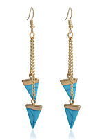 Dangle Earrings Turquoise Gold Plated Turquoise Simple Style Fashion Black Blue Jewelry Party Daily Casual 1 pair