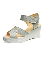 Sandals Summer Creepers Leatherette Outdoor Dress Casual Wedge Heel Buckle Walking