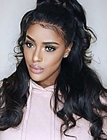 10-26 Inch Human Virgin Hair Natural Black Color Full Lace Wig Body Wave Hair with Baby Hair