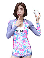 SBART® Mulheres Resistente Raios Ultravioleta Anti-Irradiação Elastano Terylene Fato de Mergulho Manga Comprida Conjuntos de Roupas/Ternos