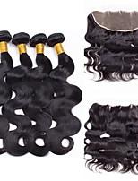 One Pack Solution Cheveux Brésiliens Ondulation naturelle 12 mois 5 Pièces tissages de cheveux