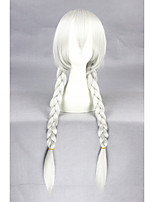 Nouveau anime 32inch long droit argent blanc judy lapin synthétique cosplay perruque cs-278a