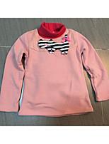T-Shirt Ausgehen Lässig/Alltäglich Urlaub Einfarbig Baumwolle Winter Lange Ärmel Normal