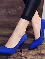 Черный Красный Синий-Для женщин-Повседневный-Полиуретан-На шпильке-Удобная обувь-Обувь на каблуках