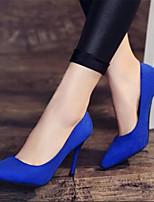 Mujer-Tacón Stiletto-Confort-Tacones-Informal-PU-Negro Rojo Azul