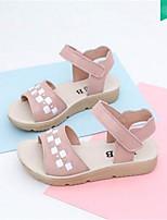 Girls' Sandals Spring Fall Comfort Leatherette Outdoor Casual Flat Heel Hook & Loop Walking