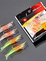 2 штук Мягкие приманки Случайный цвет 12 г Унция мм дюймовый,Пластик Обычная рыбалка