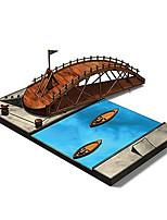 Da Vinci Manuscript Engraved Engraving Model (Swing Bridge)