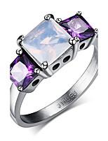 Bague Cercle Acier Forme de Cercle Violet Bijoux Pour Quotidien 1pc