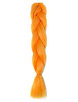 1 Pack Orange Jumbo Braids Hair Extensions Kanekalon Hair Braids Crochet 24inch Fiber 100g