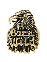 Anillos Legierung Diseño Único Logo Tatuaje Cosecha Forma de Animal Joyas Fiesta Ocasión especial Halloween 1 pieza Bronce