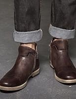 -Для мужчин-Для прогулок-Кожа-На плоской подошве-Удобная обувь-Туфли на шнуровке