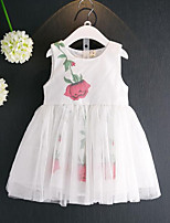Girl's Casual/Daily Floral Dress,Rayon Polyester Summer Sleeveless