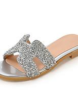 Women's Slippers & Flip-Flops Summer Fall Slingback PU Dress Casual Flat Heel Sequin
