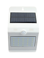 Solar Light Control Human Body Sensor Solar Wall Lamp 20 White 4 Warm White LED Touch Switch Lights