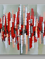 IARTS Hand Painted Modern Abstract Red and Grey Color Pieces Stretchered Ready to Hang Colorful Art Canvas