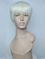 White Color Wig Synthetic Fiber Wig Cosplay Costume Hairstyle With Wig Cap