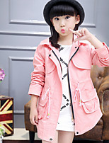 Girl's Casual/Daily Solid Suit & Blazer,Cotton Spring Fall Long Sleeve