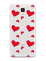 For Xiaomi  Mi 4  Mi 5Transparent Pattern Case Back Cover Case Heart Soft TPU for   Mi 5s Plus  Mi 5s 4s Mi 3