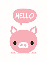 Wall Stickers Wall Decals Style Pink Pig PVC Switch Stickers